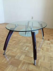 Urgent moving sale, glass top coffee table, almost new!