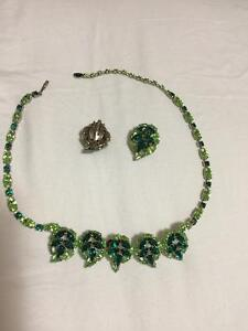 Sherman jewelry necklace and earrings
