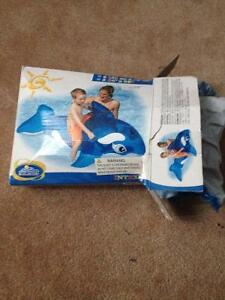 "Blow up dolphin pool toy 64"" x 30"" $5 Cambridge Kitchener Area image 1"