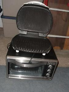 George Foreman Grill and Toaster Oven