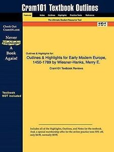 Studyguide for Early Modern Europe, 1450-1789 by Wiesner-Hanks, ISBN 9780521005
