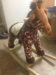 Giraffe rocking horse barely used