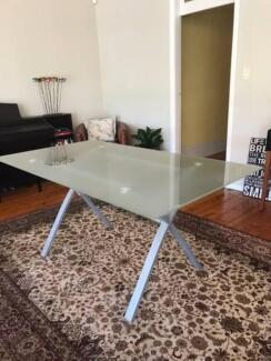 Freedom Glass top dining table