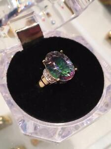 #1154 10K BEAUTIFUL MYSTIC TOPAZ SIZE 7 1/4