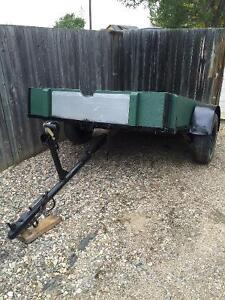 5x8 Tilting Utility Trailer with 1200lb winch