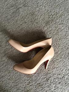 Authentic  Louboutin Nude Pumps 105mm Size 38