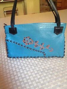 Cow leather purse