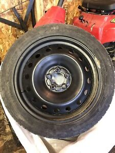 P235/45R18 GoodYear UltraGrip Ice Winter Tires with rims