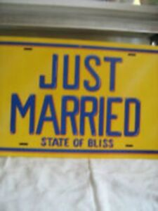 Just Married Licence Plate--$5.