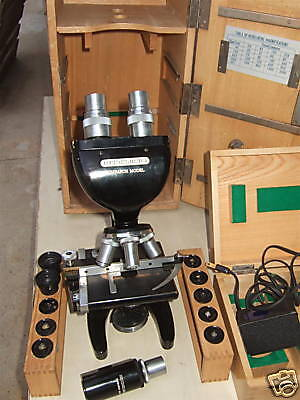 Vintage Heidelberg Research Model Microscope Wcase Wow