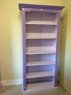 Bookcases - pink and purple