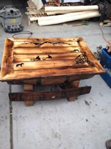 Whiskey Barrel Tables and Bars