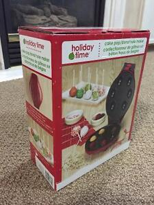 Cake Pop / Donut Hole Maker Holiday Time - Brand New in Box