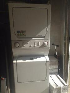Washer and dryer stackable in one unit natural  gas Maytag