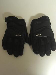 XL Leather icon gloves