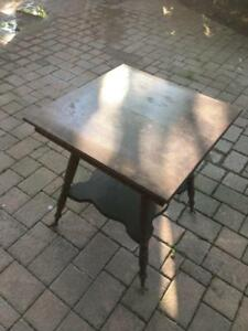 Antique Parlour Table with Brass & Crystal Claw Feet