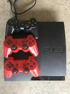 Sony PS3 with controllers and games
