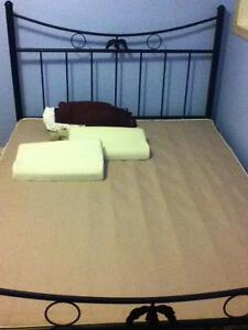 Queen size headboard, footboard, box spring, sheets set