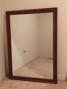 Large Wooden Mirror - Like New