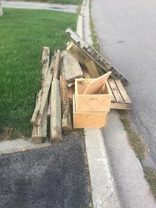 FREE WOOD - posts, 2x4, couple skids for decks,projects, fire wo
