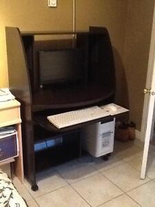 Computer desk dark brown