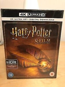 Harry Potter complete 8-film collection blu-ray 4K UHD HDR
