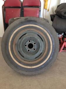 Ford steel wheels with tires