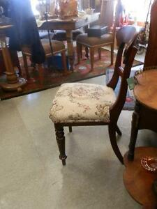 Set of 6 early 1800's mahogany dining chairs