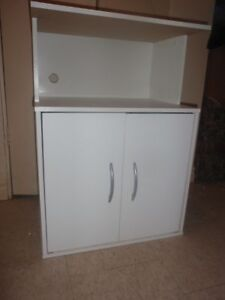 Moving Sale_White Microwave Stand
