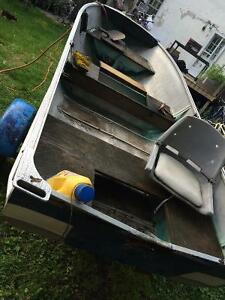 14' aluminum boat, motors and trailer Cambridge Kitchener Area image 2