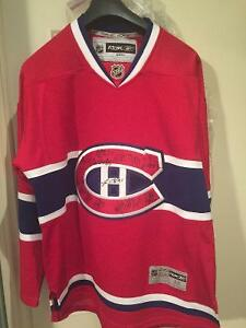 Montreal Canadiens centennial 2009-10 team signed Jersey