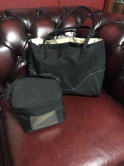 Medela City Style Breast Pump Bag with Cooler Bag and Frozen block -