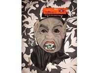 vampire/ dracula glow in the dark mask fancy dress party or stag do