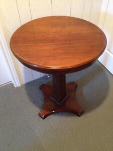Traditional Round Pedestal Side Table London Ontario image 1