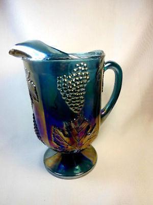 Blue Carnival Glass Pitcher Ebay