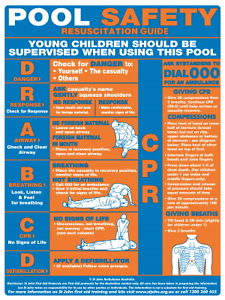 Resuscitation sign 45cm x 60cm - pool sign - pool safety Murwillumbah Tweed Heads Area Preview