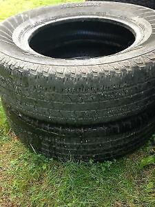 Two P235/75R17 Tires