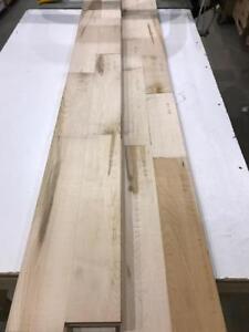 """Plancher de bois franc érable 4 1/4"""" brut seulement 2,25$/pc"""