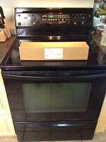 "30"" Glass Top Range with Self Cleaning Oven"