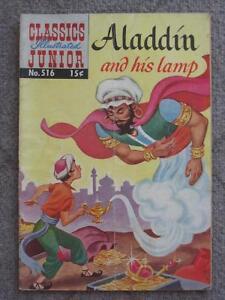 Aladdin and his Lamp, Classics Illustrated Junior #516