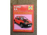 haynes service & repair manual for ford ka