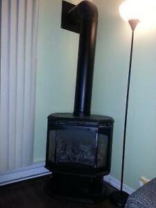 gas fireplace / stove