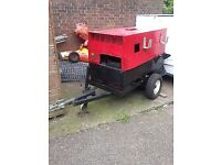 Towable generator plant 10kva recently serviced