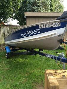14' aluminum boat, motors and trailer Cambridge Kitchener Area image 5