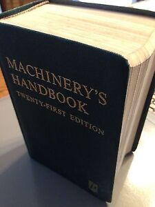 Machinery's Handbook 21st Edition