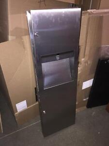 Paper towel dispenser waste container