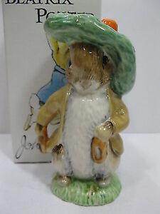 Royal Albert Beatrix Potter Benjamin Bunny Figurine  ORIGINAL BO