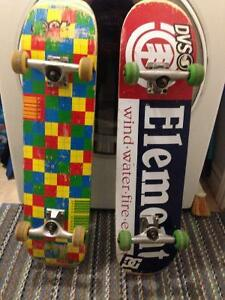 Speed demon and element skateboards