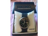 Seiko 5 Men's Automatic Watch Military Style Mens Blue Strap SNK807K2