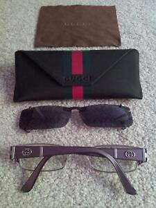 Gucci Eye Glass Frames with Sunglass Clip On London Ontario image 2